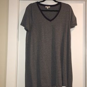 Umgee Navy and grey striped tunic/dress